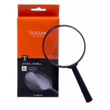 Лупа офисная Tukzar, диаметр 90 мм, увеличение в 2 раза, черная
