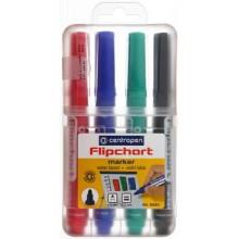 Набор маркеров для флипчартов Centropen, 4 цвета