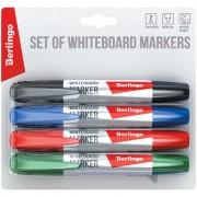 """Набор маркеров для белых досок Berlingo """"Uniline WB200"""", 4цв., пулевидный, 2мм, блистер"""