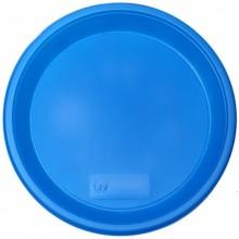 Тарелка одноразовая пластиковая «Мистерия», плоская, диаметр 21 см, синяя