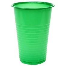 Стакан одноразовый пластиковый «Мистерия», 200 мл, зеленый, упаковка 100 шт