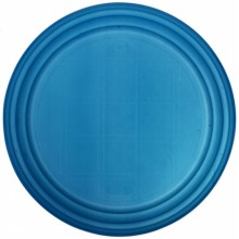 Тарелка одноразовая пластиковая, плоская, диаметр 20,5 см, синяя