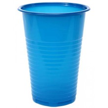 Стакан одноразовый пластиковый «Мистерия», 200 мл, синий, упаковка 100 шт