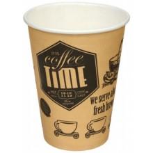Стакан одноразовый бумажный для горячих напитков 250 мл, «Кофе тайм»