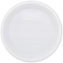 Тарелка одноразовая пластиковая «Мистерия», десертная, диаметр 16,7-17 см, белая