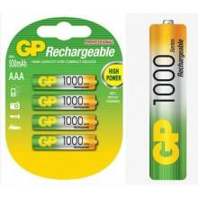 Аккумулятор GP, AAA, 1.2V, 1000 mAh (4 шт. в упаковке)