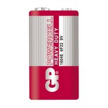 Батарейка угольно цинковая GP Powercell 9V 6F22/1604E