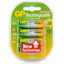 Аккумулятор GP, AA, 1.2V, 2700 mAh (4 шт. в упаковке)