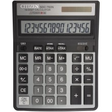 Калькулятор 16-разрядный Citizen SDC-760N, серый с черным