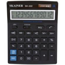Калькулятор 12-разрядный Skainer SK-222, черный