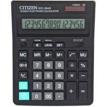 """Калькулятор 16-разрядный """"Citizen SDC-664S"""", черный"""