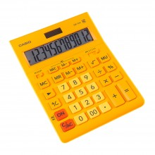 """Калькулятор настольный CASIO """"GR-12"""", 12-разрядный, оранжевый"""