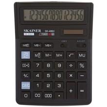 Калькулятор 16-разрядный Skainer SK-486II, черный