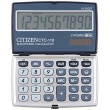 Калькулятор карманный 10-разрядный Citizen CTC-110, серый
