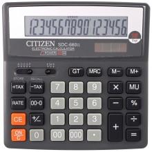 Калькулятор 16-разрядный Citizen SDC-660II, серый