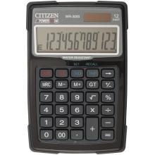 Калькулятор 12-разрядный Citizen WR-3000 водонепроницаемый, черный