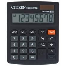 Калькулятор 8-разрядный Citizen SDC-805BN, черный