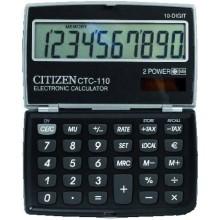 Калькулятор карманный 10-разрядный Citizen CTC-110, черный