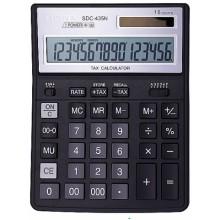 Калькулятор 16-разрядный Citizen SDC-435N, черный