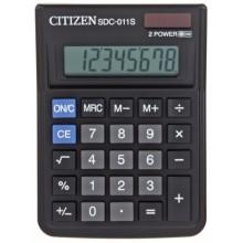 Калькулятор 8-разрядный Citizen SDC-011S, черный