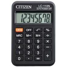 Калькулятор карманный 8-разрядный Citizen LC-110N, черный