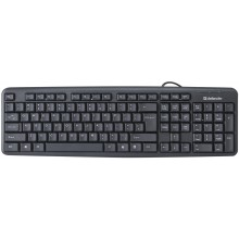 Клавиатура  Defender  HB-520, проводная USB, черный