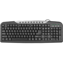 Клавиатура  Defender  HM-830, проводная USB, черно-серая.
