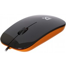Мышь компьютерная Defender NetSprinter MM-440 проводная, черный+оранжевый