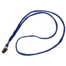 Тесьма для бейджа Optima, ширина 10 мм, длина 450 мм, синий