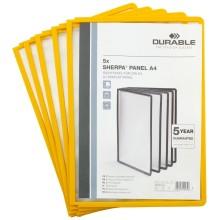 Демопанель в рамке Durable Sherpa, желтая (цена за 1 шт.)