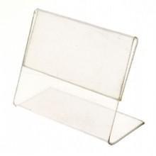 Держатель для ценников из оргстекла, 40×30 мм, L-вид, горизонтальный, прозрачный