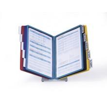 Стойка информационная настольная Vario Desk Unit, 10 демопанелей, разноцветный