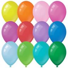 Воздушные шары, 100шт., М9/23см, MESHU, пастель, 12 цветов ассорти