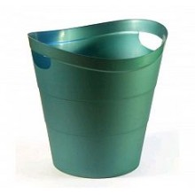 Корзина для бумаг 2002 цельная, 14 л, зеленая