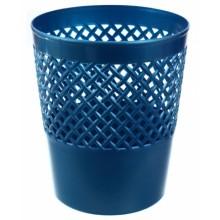 Корзина для бумаг сетчатая «Офис-Класс», 12 л, синий перламутр