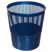 Корзина для бумаг сетчатая, 10 л, синяя