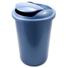 Корзина для бумаг цельная с крышкой, 12 л, синяя