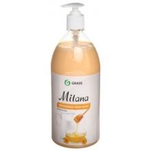 Крем-мыло жидкое Milana, 1000 мл, увлажняющее, «Молоко и мед»