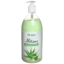 Крем-мыло жидкое Milana, 1000 мл, увлажняющее,«Алоэ Вера»