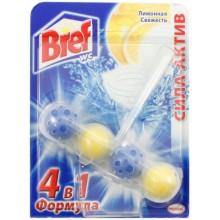 Блок для унитаза Bref 4в1 «Сила-Актив», «Лимонная свежесть», 51 г