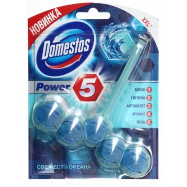 Блок для унитаза в пластиковом подвесе Domestos Power5, 55 г, «Свежесть океана»
