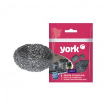 Губка металлическая для посуды YORK «Minii», спиральная D=5 см. (1шт. в упаковке)