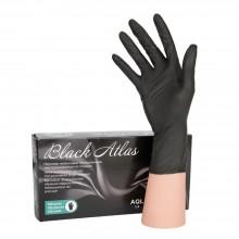 """Перчатки неопудренные нитриловые одноразовые """"Black Atlas"""", S, 100 шт, черный"""