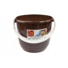 Ведро пластиковое BEROSSI, 12 л, шоколадный