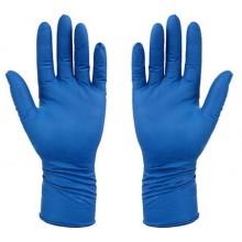 Перчатки латексные хозяйственные Flexy Gloves, размер L, синие