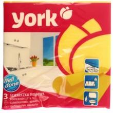 Салфетки вискозные York, 35×35 см, 3 шт., ассорти