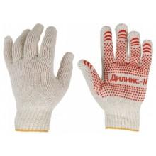 Перчатки трикотажные, трикотаж, белые, пятинитевые, «Профи»