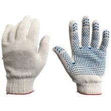 Перчатки трикотажные 10 класс 5/132- нитка с ПВХ , белые