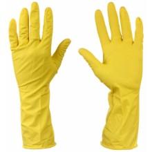 Перчатки латексные хозяйственные с хлопковым напылением A.D.M., размер S, для деликатной уборки