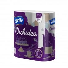 """Полотенца бумажные """"GRITE ORCHIDEA"""", 3 слоя, 2 рулона"""